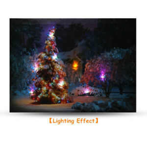 40x30cm-LED-Light-Christmas-Tree-Canvas-Art-Picture-Printing-Houses-Wall-US