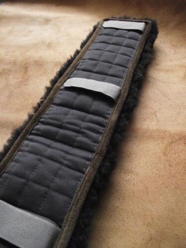 Kammdeckel Sattelgurt Fell 12 cm Lammfellschoner Lammfell braun  Gurtunterlage