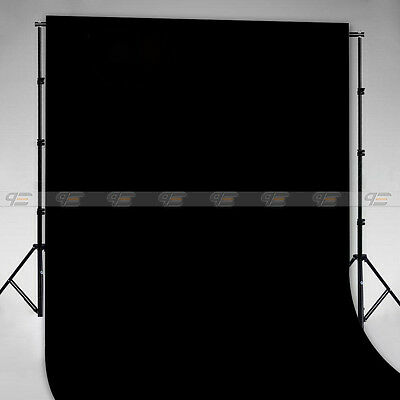 Ironed Seamless Flocked Cloth Background Black 1.5 x 3m 5 x 10ft for most photo