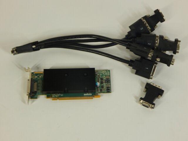 Matrox QID-E128LPAF 128MB PCIe x16 Quad Display Graphics Card