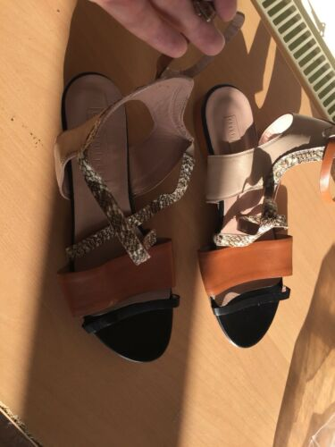 Shoes Summer 41 Flat brown Hobbs New 7 8 Uk Sandals vxYqT