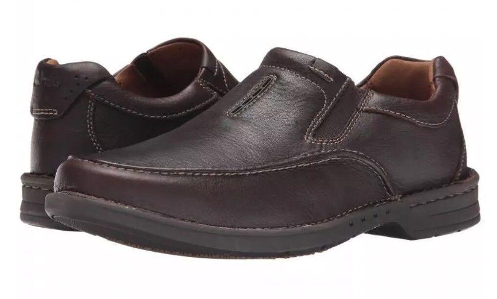 New�Clarks�UK Leder 7 Untilary Easy Braun Leder New�Clarks�UK UnstructuROT Loafers Schuhes 41EU 3175e1