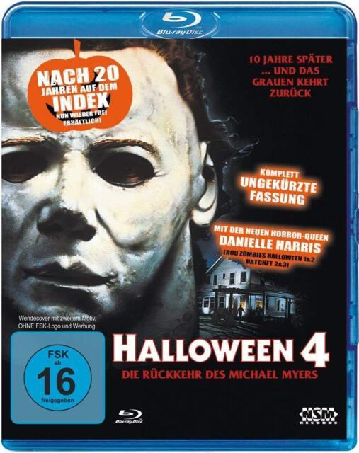 Halloween 4 -The Return Of Michael Myers-Donald Pleasence NEW B-Ray Reg. B Uncut