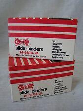 2 Boxes of Vintage GEPE 24x36/24x24 Glass Slide Binders New Old Stock 131524