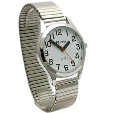 Gents Super-Clear Quartz Watch by Ravel with Expanding Bracelet Silvertone 22