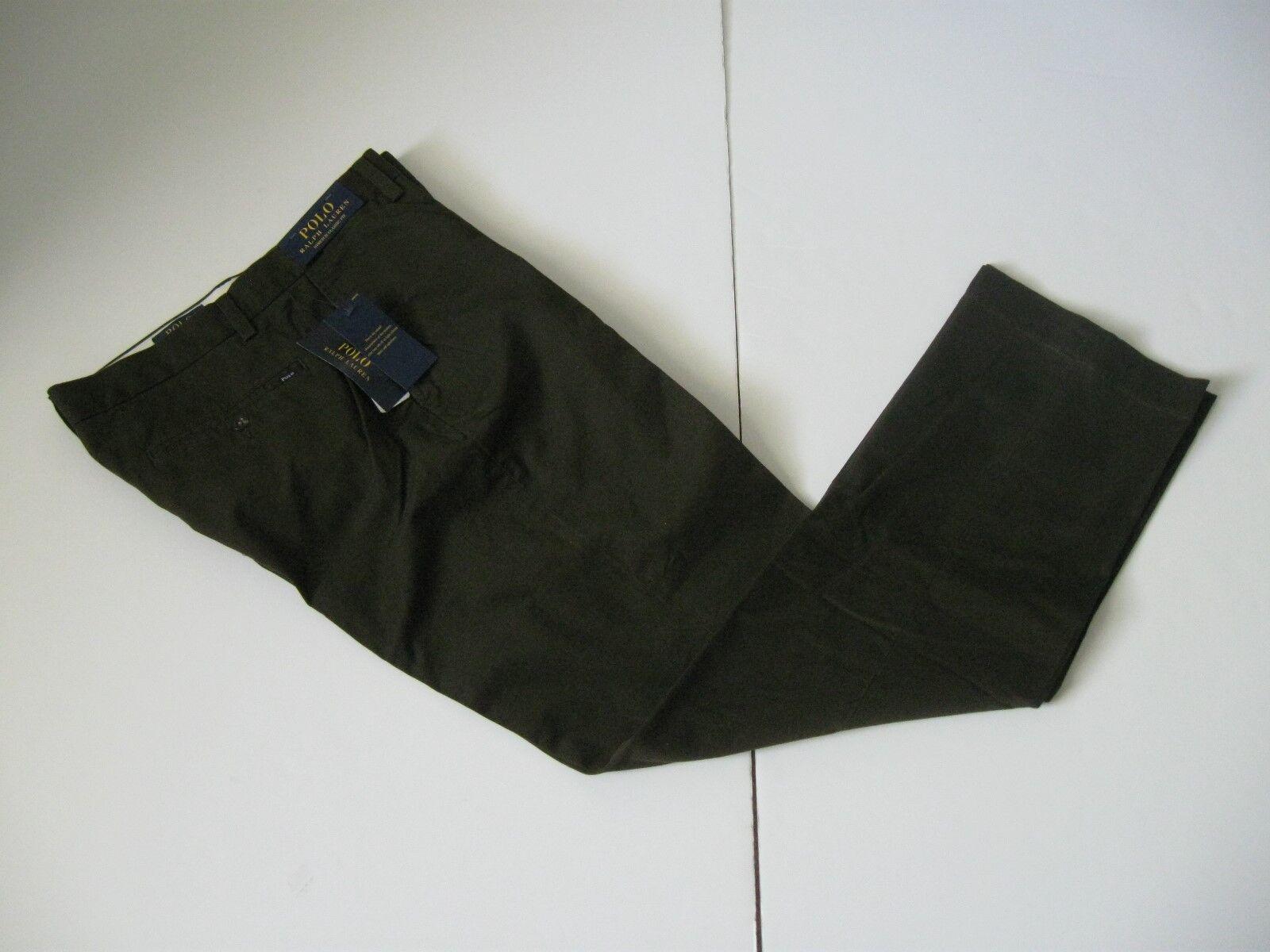 POLO RALPH LAUREN Men's Olive Classic-Fit Cotton Blend Stretch Twill Pants 34x30