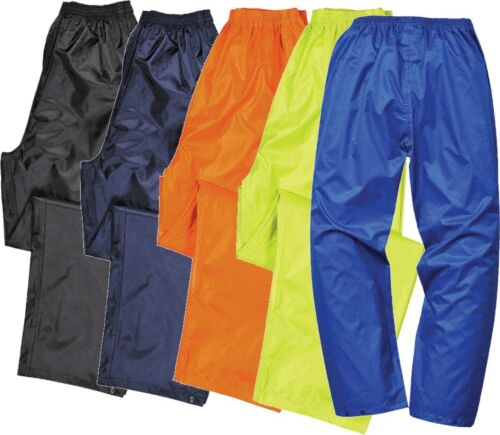 Waterproof Rain Trousers mens womens lightweight over pants Adult Portwest S441
