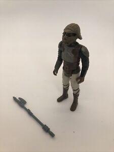 Vintage Loose 1982 Star Wars: ROTJ Lando Skiff Guard Complete Figure HK
