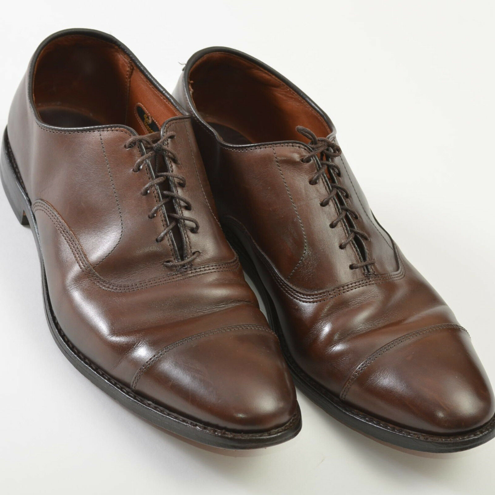 Allen Edmonds Park Avenue Cap Toe marrone Pelle Oxford Scarpe Uomo 10.5 D