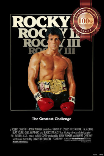 NEW ROCKY III 3 THREE CLASSIC 1982 80s MOVIE WALL HOME ART PRINT PREMIUM POSTER