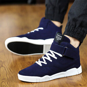 c7422a38797 Details about Mens Casual Shoes High Top Sport Sneakers Athletic Running  Shoes Red Fashion New