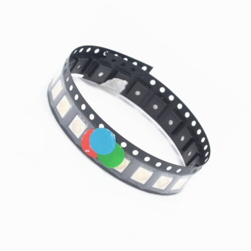 100pcs RGB SMD SMT 5050 Super bright LED lamp Bulb RED GREEN BLUE