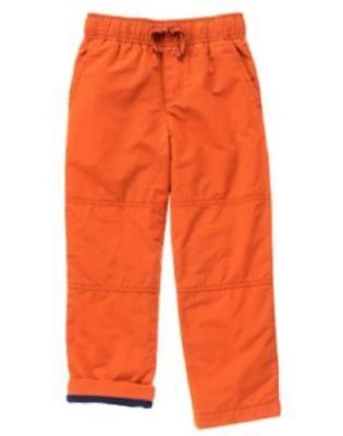 GYMBOREE MIX N MATCH ORANGE GYMSTER LINED ACTIVE PANTS 6 12 18 24 3 4 5 NWT
