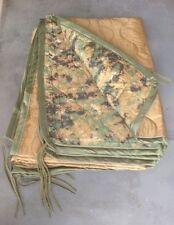 Military USMC Woodland Digital MARPAT / Coyote Poncho Liner Woobie Blanket