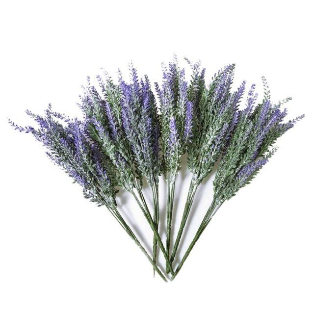 6x Bundles Artificial Lavender Bouquet Fake Lavender Bunch Purple Lavender M9S3