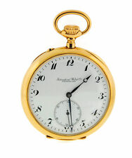IWC Vintage Manual Wind 18K Yellow Gold Pocket Watch