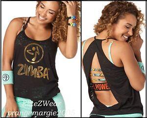 S,M,L ZUMBA Aztec Tunic Tank Tee Top-Gold Foil Metallic RARE /& SIMPLE GORGEOUS!