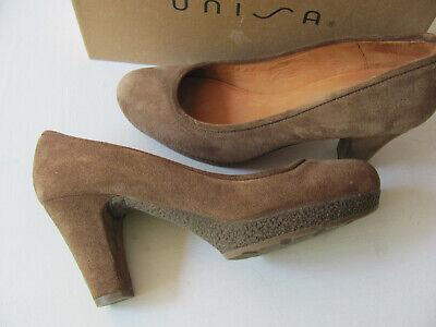 UNISA! echt Leder PUMPS 38,5 39 Nuss Braun NEU wertig | eBay