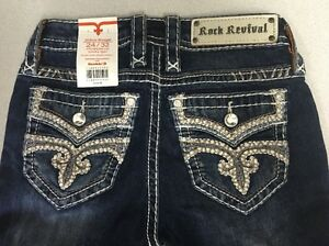 X Straight Sakura Revival Midrise mærker 24 Jeans Rock 32 Størrelse med Kvinder Ny Ox8wq7RpO
