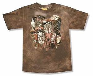 b6badb03 Details about Mountain Forest Creatures Kids Youth Brown Tie Dye T Shirt  New Official Animals