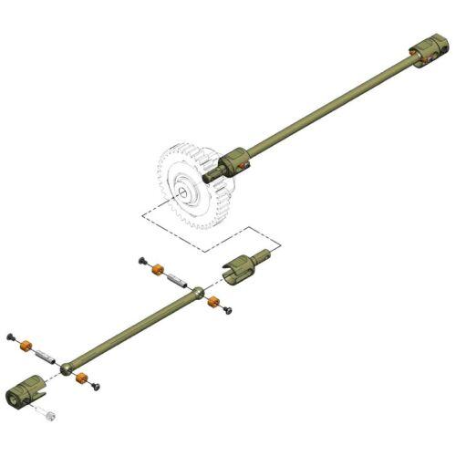 MIP 18310 Center Drive Kit Losi Tenacity DB//SCT//T