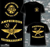 Combatant Diver School Panama City, Fl Us Navy Recon Marine Corps Shirt