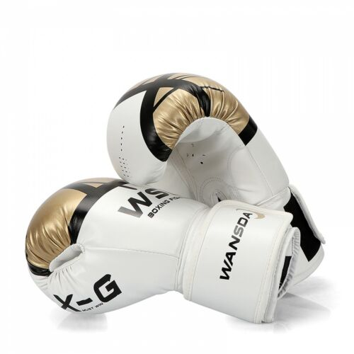 Boxing Gloves Leather MMA Muay Thai Boxing Mitts Men Box Training Fight Gloves