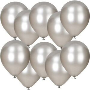 Happium-12-034-Latex-Argente-Metallique-Ballons-Fete-De-Mariage-Helium-Air-Pack-De-20