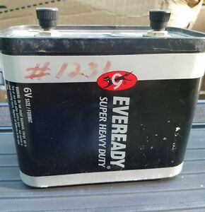 Image Is Loading Eveready 6v Lantern Battery 1231