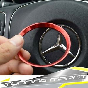 Alu Rot Lenkrad Ring für Mercedes Benz W176 W204 C117 X156 pz41