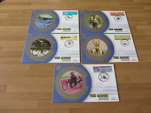 2002-Benham-Silk-Covers-GB-BS169-173-COMMONWEALTH-GAMES-5-covers