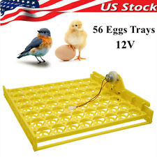 56 Eggs Automatic Egg Incubator Tray 12v Hatching Machine For Poultry Chicken Us