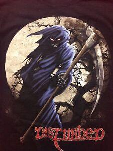 c40fa7fd416 Used Disturbed Small Black T-shirt Band Rock Music Grim Reaper