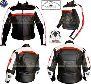 BIKERS-FIT-MENS-METAL-PROTECTION-CE-ARMOUR-MOTORBIKE-MOTORCYCLE-LEATHER-JACKET
