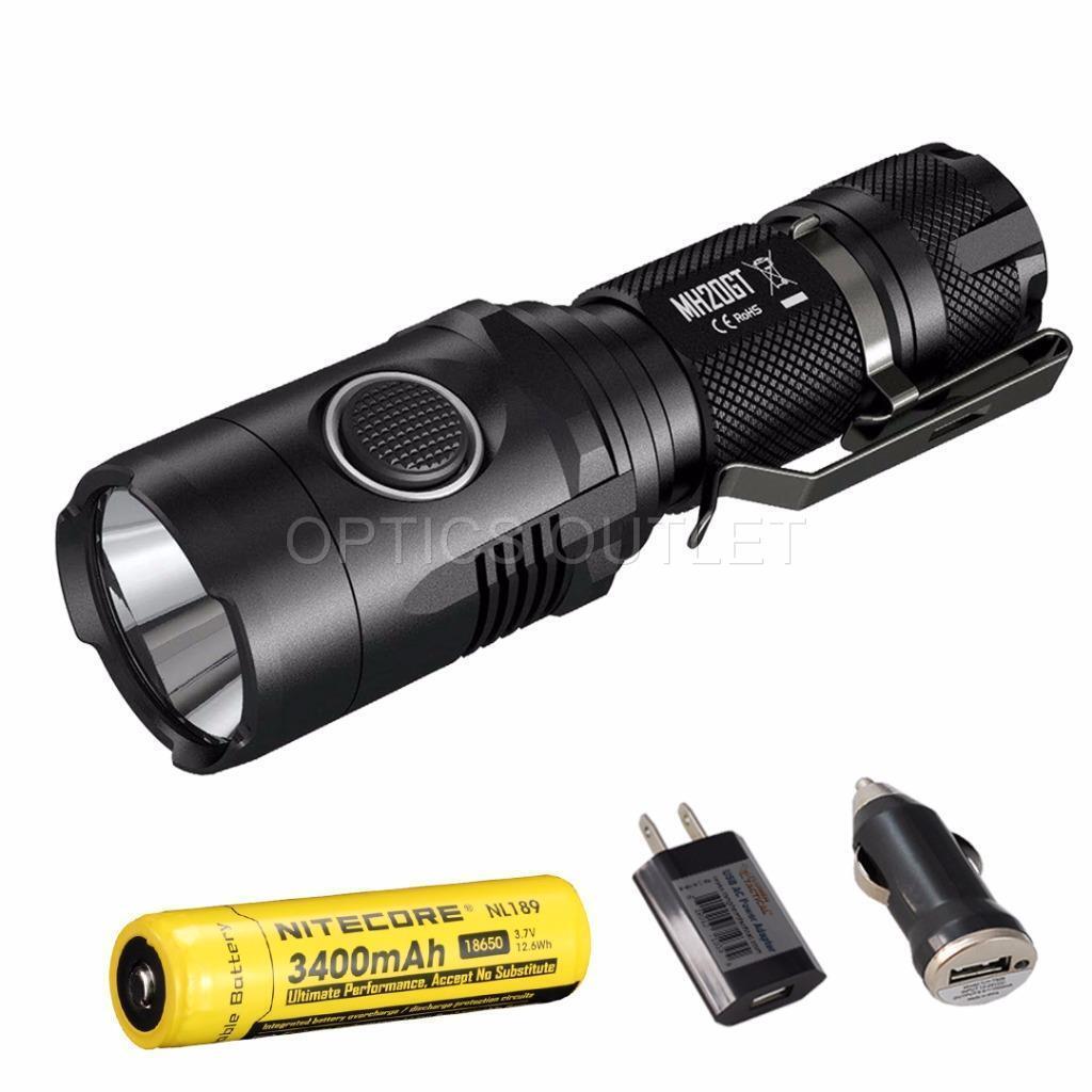 Nitecore MH20GT 1000 Lumens USB Rechargeable LED Flashlight w  3400 mAh 18650