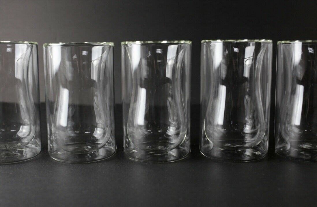 NEW 48pc Floating Glass Double Wall Cups, 7.5oz for Hot Hot Hot Tea or Coffee bc65b0
