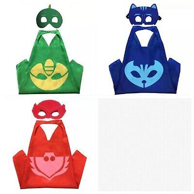 Responsabile Mantello Maschera Super Pigiamini Pjmasks Carnevale Costume Gatto Gufetta Geko