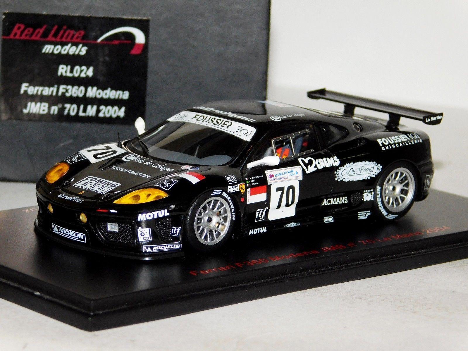 Ferrari f360 modena jmb   70 le mans 2004 rotline rl024 1 43
