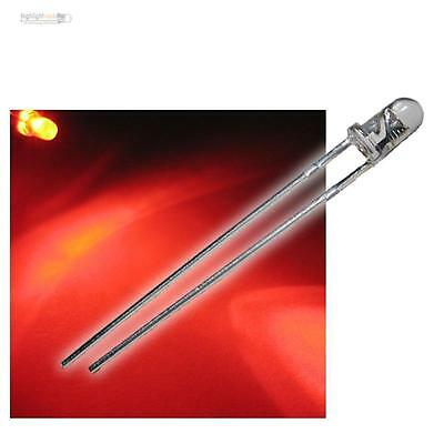 50 Led 3mm Rosso Acqua Wtn-3-500r, Rosso Led Rosso Rouge Rojo Rosso Rood