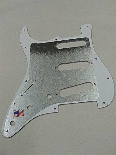 D/'ANDREA PRO STRATOCASTER PICKGUARD S//S//S 11 HOLE AQUA PEARLOID MADE IN THE USA