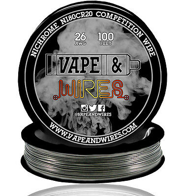 Vape and Wires Nichrome 80 Ni80Cr20 Competition Wire 26