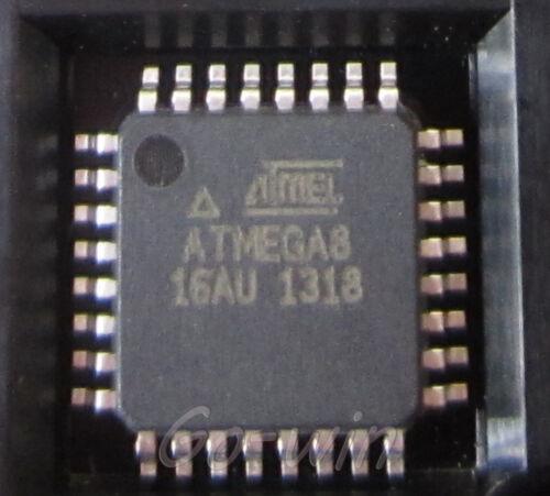 5PCS ATMEGA8-16AU ATMEGA8 TQFP-32 AVR 8 bit Microcontroller NEW