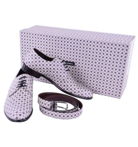 Geschenkset Gabbana Schuhe 04885 Beige Dolceamp; Aus Napoli Derby Gürtel T1lJc3FK