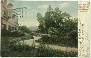 Postcard-South-View-Home-Paul-De-Longpre-Artist-Hollywood-California-CA-1900-039-s