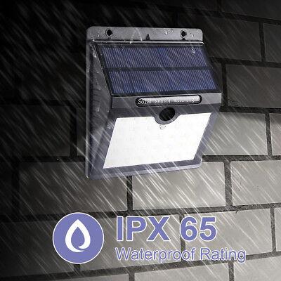 2X20 LED Outdoor Solar PIR Power Motion Sensor Wall Mount Light Waterproof Lamp