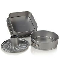 Wolfgang Puck 3 Piece Springform Baking Pan Set Wprsfp1012 3pc on sale