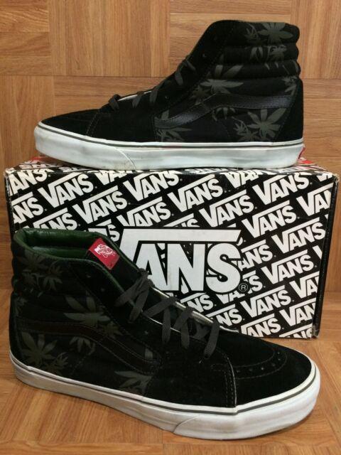 674554b47d RARE🔥 VANS SK8-HI Originals Marijuana Palm Leaf OG Bud Green Black Sz 13