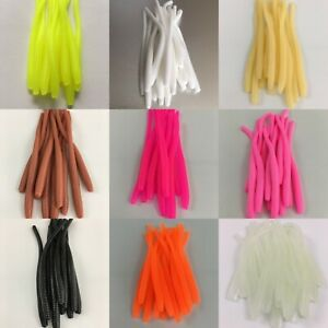 """20 Pack 2.5/"""" Trout Worms Floating Lures Fishing Chartreuse Glow Shrimp Scent"""