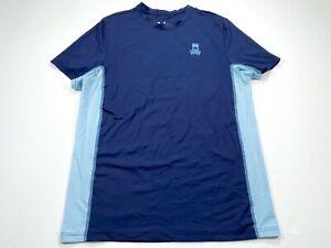 Psycho-Bunny-Men-039-s-S-Blue-Nylon-Spandex-Activewear-Shirt-Size-Small