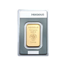1 oz Goldbarren Heraeus 15 Euro Rabatt bei 3 St.